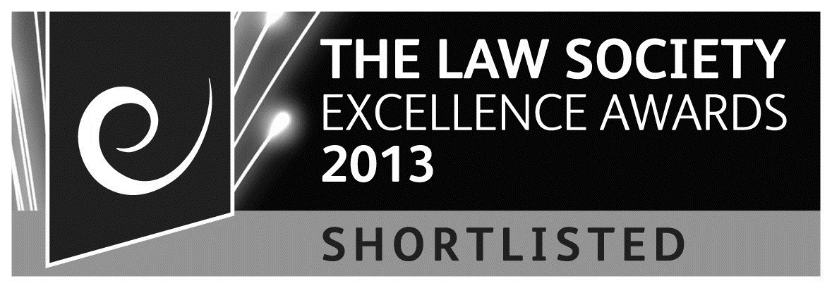 The Law Society Excellence Awards 2013 - Shortlisted